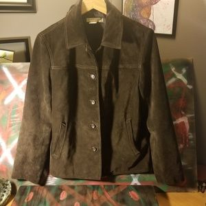 J. Crew womens suede brown jacket awesome